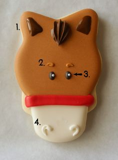 Horse Face Cookie  (instructions)