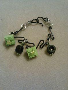 lego tire track charm bracelet by crazydesigns2012 on Etsy, $10.00