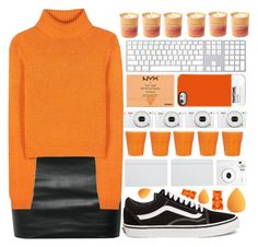 """""""Orange"""" by following-everyone ❤ liked on Polyvore featuring The Row, Acne Studios, Vans, Jo Malone, NYX, Case Scenario, ASOS and Fuji"""