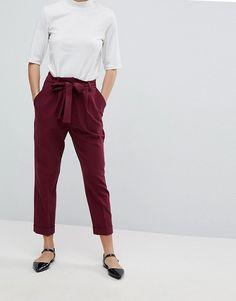 ASOS Petite | ASOS Petite - Pantaloni con pinces e cintura obi