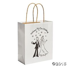 Distribute lovely party favors to your guests with these adorable wedding kraft paper bags. These paper sacks are perfect for the reception or placing at each ...