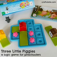 Three Little Piggies is a wonderful logic game for preschoolers! Product review.