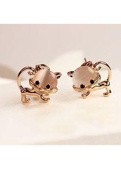 5.3$  Watch here - http://dijn6.justgood.pw/go.php?t=153211 - Animal Shape Design Metal Gold Metal Earrings