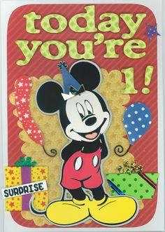 Birthday card 2013; Mickey Mouse; Cricut elements