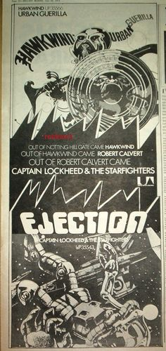 "HAWKWIND Urban Guerrila 1973 UK Poster size Press ADVERT 16x6"" | eBay"