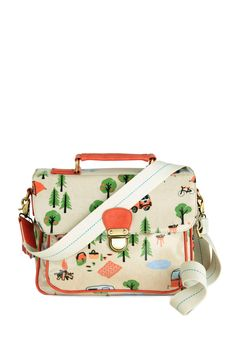 Camp Get Enough Bag - International Designer, Tan, Multi, Print, Kawaii, Travel