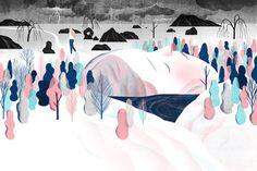 ILLUSTRAZIONE: Le tonalità delicate   Disegni di Jun Cen - Osso Magazine