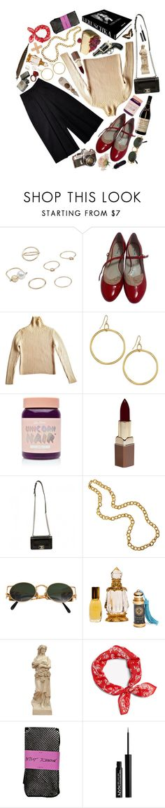"""""""Marie Antoinette"""" by reslain ❤ liked on Polyvore featuring MANGO, Assouline Publishing, Miu Miu, Elizabeth and James, Lime Crime, Fashion Fair, Chanel, Jean-Paul Gaultier, Betsey Johnson and NYX"""