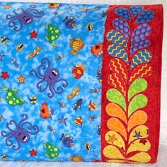 Paintbrush Studio Fabric Used: Under the Sea by Heidi Pridemore Download the free feather applique pattern here: http://www.allpeoplequilt.com/millionpillowcases/freepatterns/Pillowcase-37.pdf
