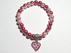 Valentine's Bracelet.  Two tone light and bright by NammersCrafts