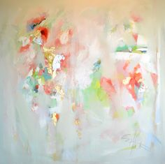 beautiful pastel color abstract painting