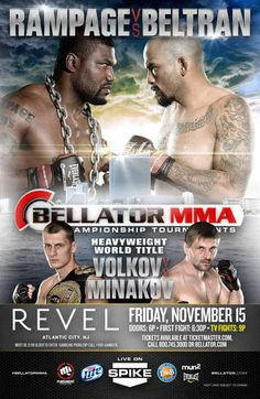 Bellator 108: Rampage vs. Beltran Fightcard
