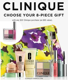 Clinique gift at Bloomingdales starts today. Free with a $32 purchase. http://clinique-bonus.com/other-us-stores/ With your choice of 3 products.