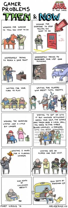 Gamer problems Then and Now