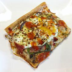 Breakfast Pizza Slice #pizza #food #foodporn #yummy #love #dinner #salsa #recipe