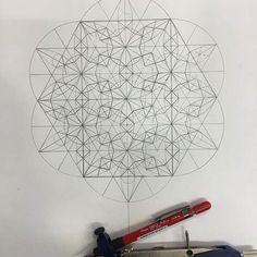 ✅ گره شش و سه کنج مربع Girih Geometric Pattern Margi Lake