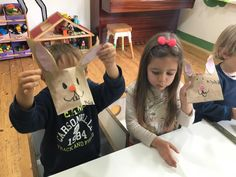Paper Bag Easter Bunny **** Великденски зайчета от хартиени кесии
