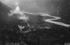 THE BATTLE OF CAPORETTO, OCTOBER-NOVEMBER 1917  Tolmin (Tolmein) under German artillery fire, October-November 1917.  http://media.iwm.org.uk/iwm/mediaLib/407/media-407639/large.jpg?action=d&cat=photographs