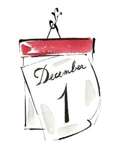 Illustrations by Yoco Nagamiya at Dutch Uncle Red And Gold Christmas Tree, London Christmas, Christmas Tree Cards, Christmas Deco, Christmas Design, Christmas 2017, Xmas, Christmas Doodles, Simple Christmas