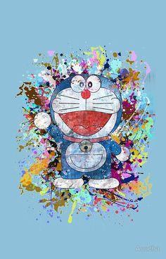 'Doraemon Full Colors ' iPhone Case by Anndha Doremon Cartoon, Kids Cartoon Characters, Walt Disney Characters, Cartoon Images, Cute Wallpaper Backgrounds, Galaxy Wallpaper, Disney Wallpaper, Iphone Wallpaper, Doraemon Wallpapers