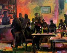 "Saatchi Art Artist Munir Alubaidi; Painting, ""Bar"" #art"