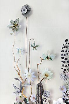 Flower construction #88 (w:50 h:70 d:6.5 cm)