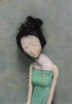 geisha    papier-mache doll made by me