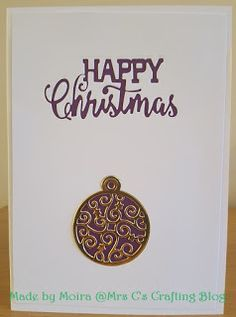Mrs C's Crafting Blog: Purple and Gold