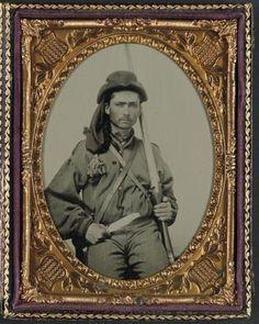 Unidentified-Soldier-Confederate-Infantry-Uniform-Musket-Bowie-Knife-Civil-War