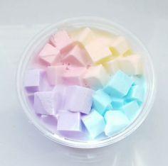 Some nice rainbow jelly cube slime.