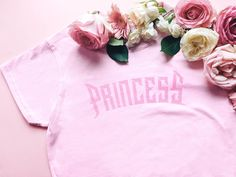 Glitter style Princess pink tshirt by girlswp on Etsy