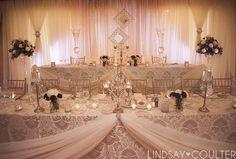 Vintage wedding decor at Whistle Bear. Wow!