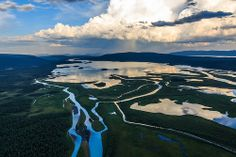 Amazing nature - helicopter ride over Rapadalen - Swedish Lappland [Explored - thank you all!]