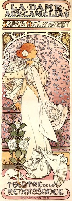 The use of floral abstraction and flat patterns makes this poster/advertisement very in sync with the art nouveau era. The font is also unique and flows nicely with the picture.