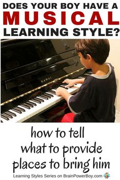 When boys have a musical learning style they learn from rhythm and melody . Find how to help your boy learn, things you can provide & where to take him. Play Based Learning, Hands On Learning, Teaching Kids, Kids Learning, Learning Piano, Teaching Music, Learning Styles Activities, Activities For Boys, Singing Lessons