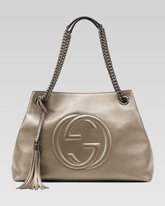 ee79ae49ba03 Gucci Soho Metallic Leather Shoulder Bag