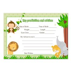 Jungle Baby Shower Invitation Printable By T