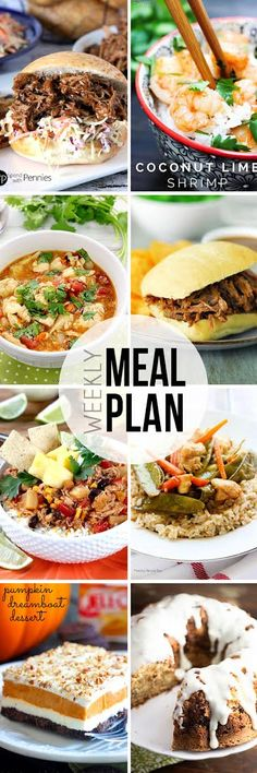 Easy Meal Plan #13 - 6 dinner and 2 dessert ideas. Easy recipes from your favorite food bloggers!