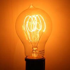 40 watt 120 volt Quad Loop Filament Medium Screw Base (Victorian) Quad, Antique Light Bulbs, Novelty Lighting, Future Library, Glow, Design Inspiration, Lightbulbs, Victorian, Base