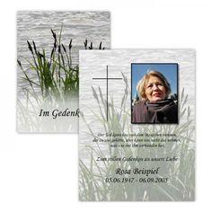 Traueranzeigen Schilf Postkarte