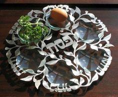 Spring Seder Plate by MelanieCuts on Etsy, $265.00