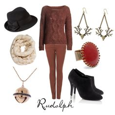 """""""Rudolph the Red Nosed Reindeer"""" by character-inspired-style on Polyvore"""