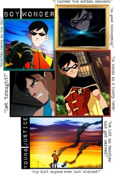 """Boy Wonder - Young Justice"" by unusualsidekick on Polyvore"