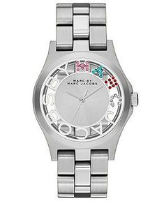 df66967e3718f Montre pour femme   Marc by Marc Jacobs Watch Womens Henry Skeleton  Stainless Steel Bracelet 40mm