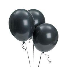 """Bulk Onyx Black 11"""" Latex Balloons"""