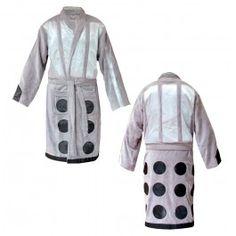 Doctor Who Bathrobe Silver Dalek | Captain Hook Merchandise