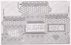 Plastic Canvas Tissue Boxes, Plastic Canvas Patterns, Dark Sugars, Plastic Canvas Christmas, Kitchen Things, Kitchen Items, Kitchen Decor, Fun Projects, Cross Stitch Patterns