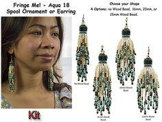 Fringe Me! - Aqua 18, Spool Ornament or Earring Beading Kit at Sova-Enterprises.com