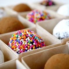 borrachitos- rum balls - the kids would love these minus the rum. just use orange juice