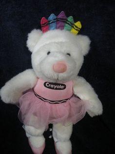 Victoria Secret White Ballerina Bear w/ Pink Angel Tutu Plush Teddy - GUND. White Teddy Bear, Teddy Bears, Crayon Ideas, Crayola Art, Pink Tutu, Crayons, Awesome Stuff, Ballerina, Plush